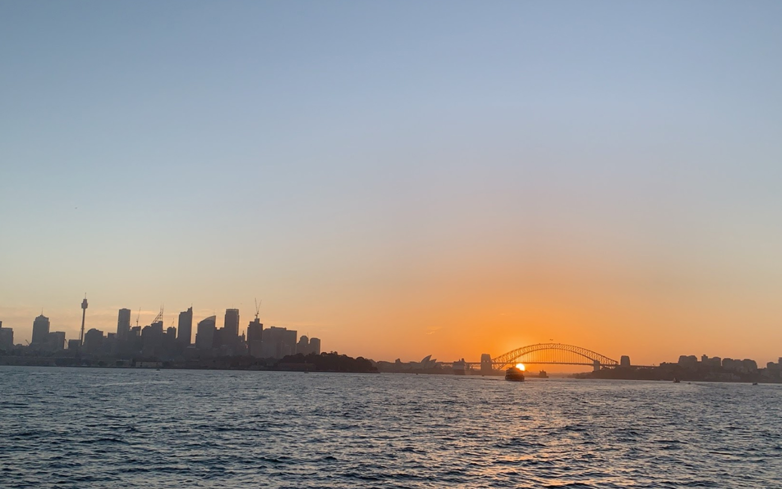 Sydney, Australia at sunset (Victoria Myers / UConn School of Business)