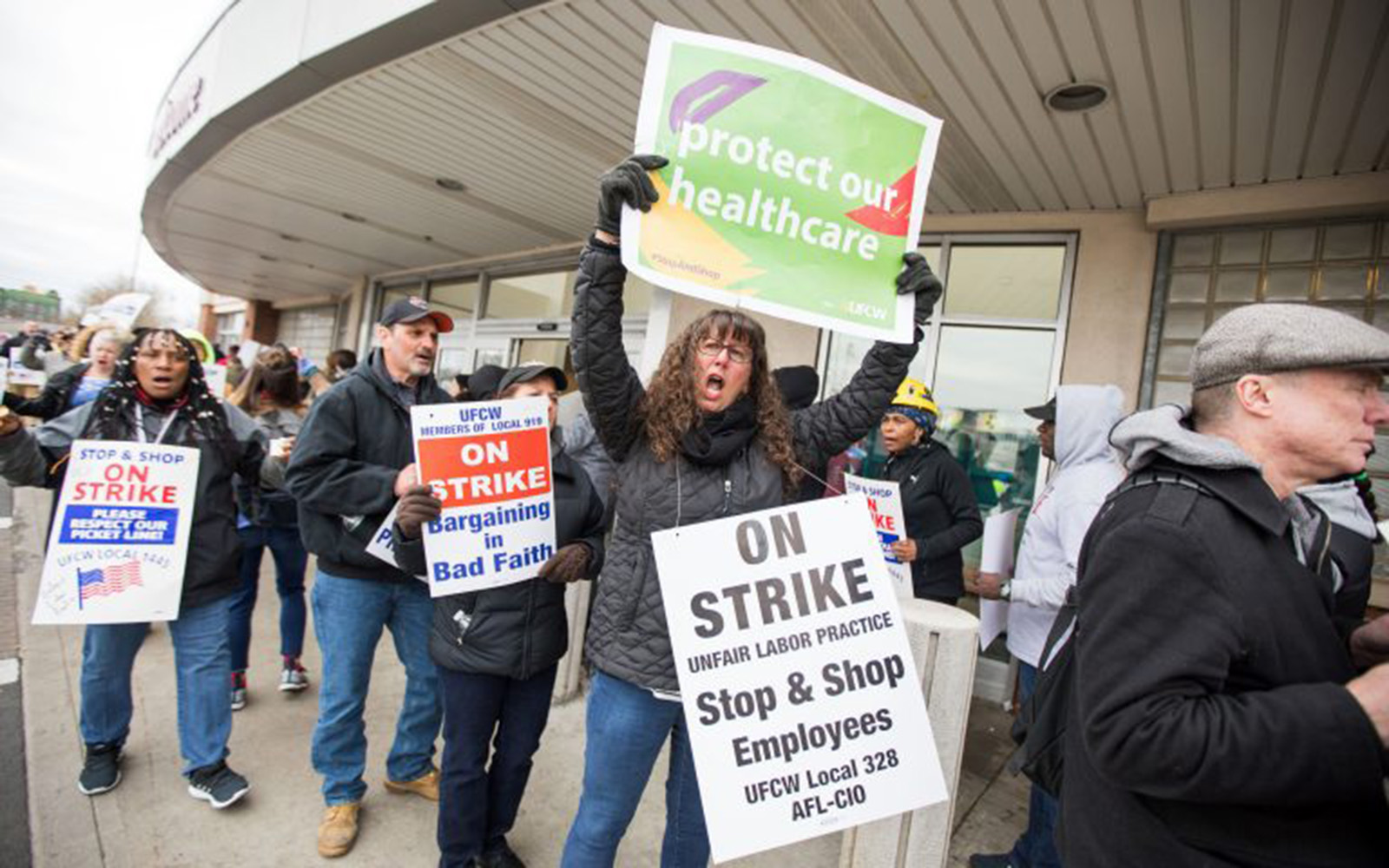 Thousands of unionized Stop & Shop workers across New England walked off the job early this month, leading to an 11-day strike. (Scott Eisen/Getty Images)