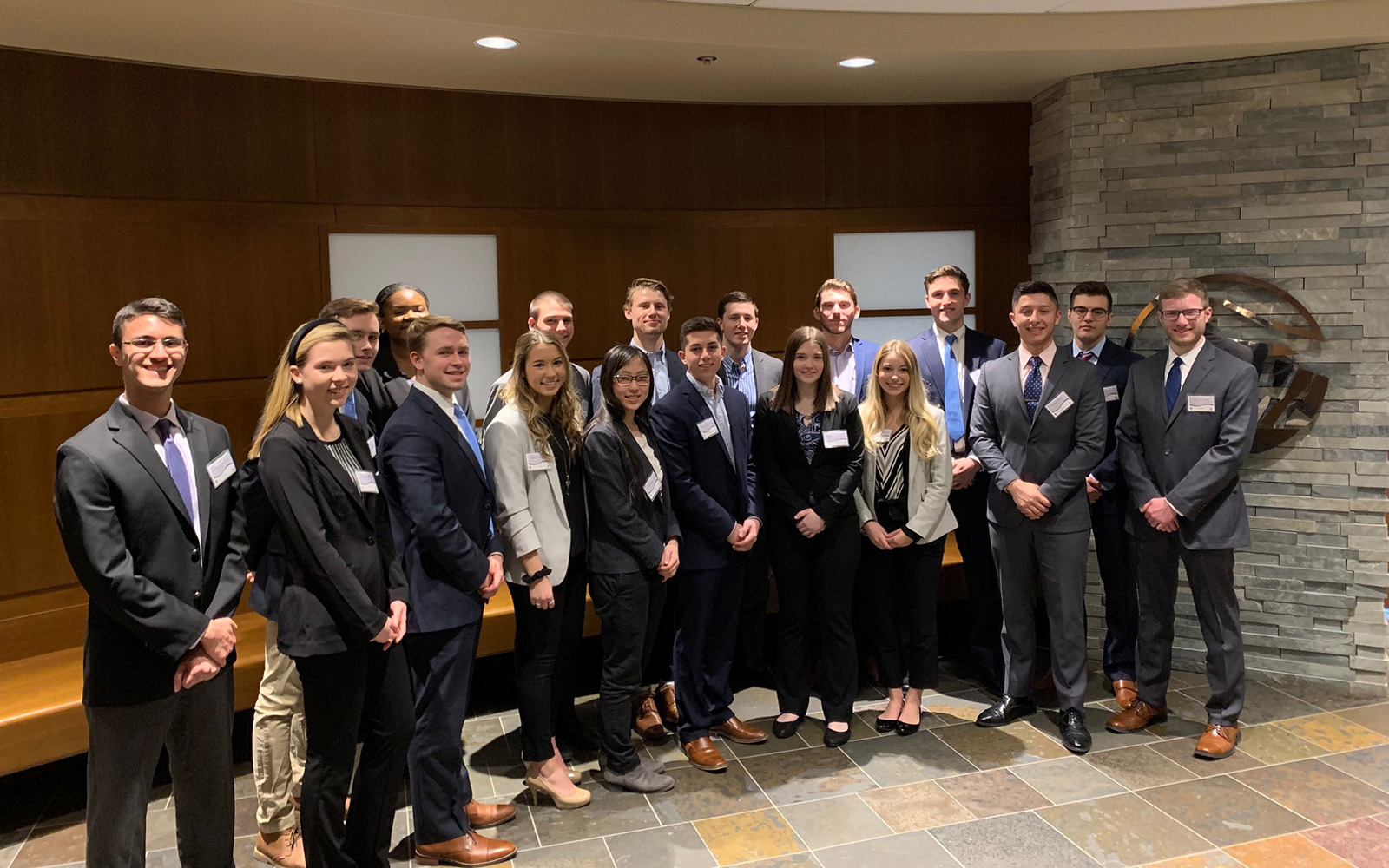 Second year students from UConn's School of Business pose during their visit to Prudential for the yearly Immersion Bootcamp, where students have an opportunity to fine tune skills in a real-time environment. (Contributed Photo)