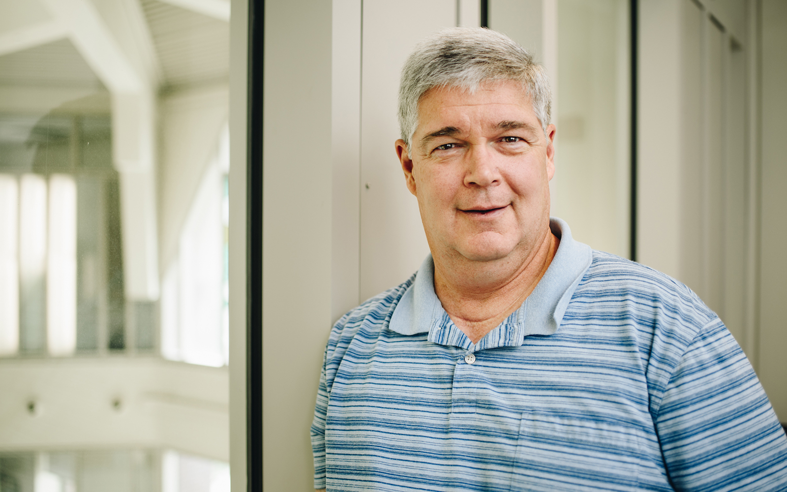 Professor Dave Papandria, pictured above, reflects upon his 14 years at the UConn School of Business (Nathan Oldham / UConn School of Business)