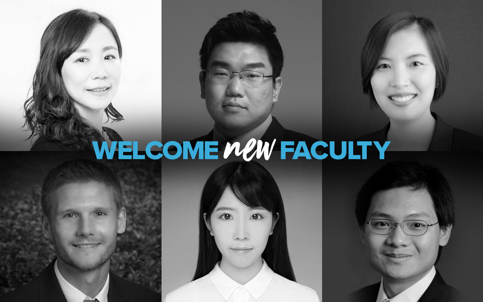 Top row, left to right: Yiming Qian (Finance), Miao Bai (OPIM), Nina Xu (Accounting).  Bottom row, left to right: Stefan Hock (Marketing), Chen Liang (OPIM), Weining Bao (Marketing). (UConn School of Business)