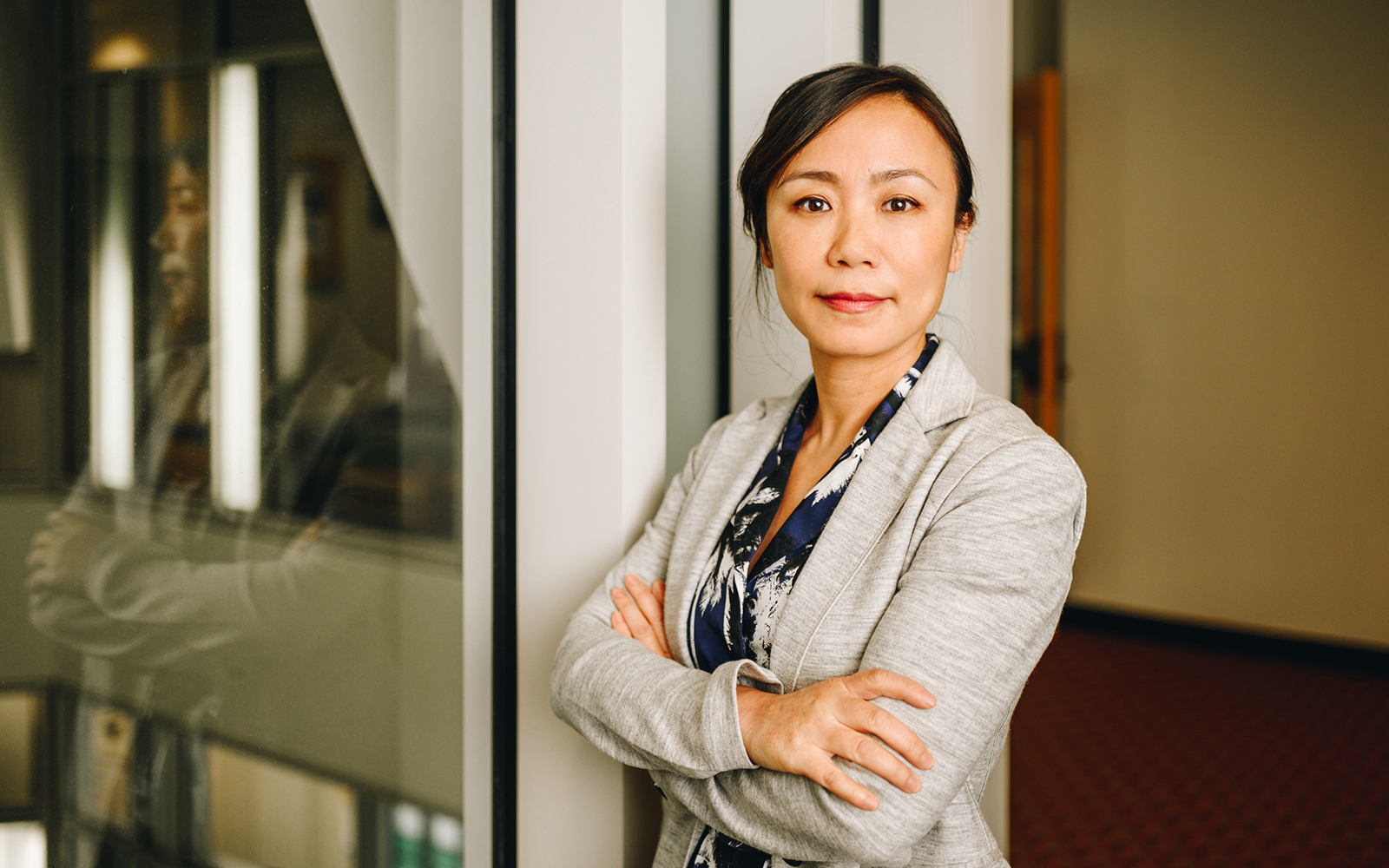 Yiming Qian, pictured above, is the first faculty member to hold an endowed chair in the Finance Department (Nathan Oldham / UConn School of Business).