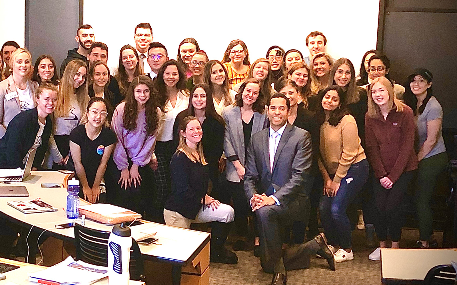 Arthur Murray Dance Studio franchisees Todd and Kerri Russell (front, center) pose with the students of Marketing 3362. They developed marketing strategies for the studio as a part of their capstone. (Contributed Photo)