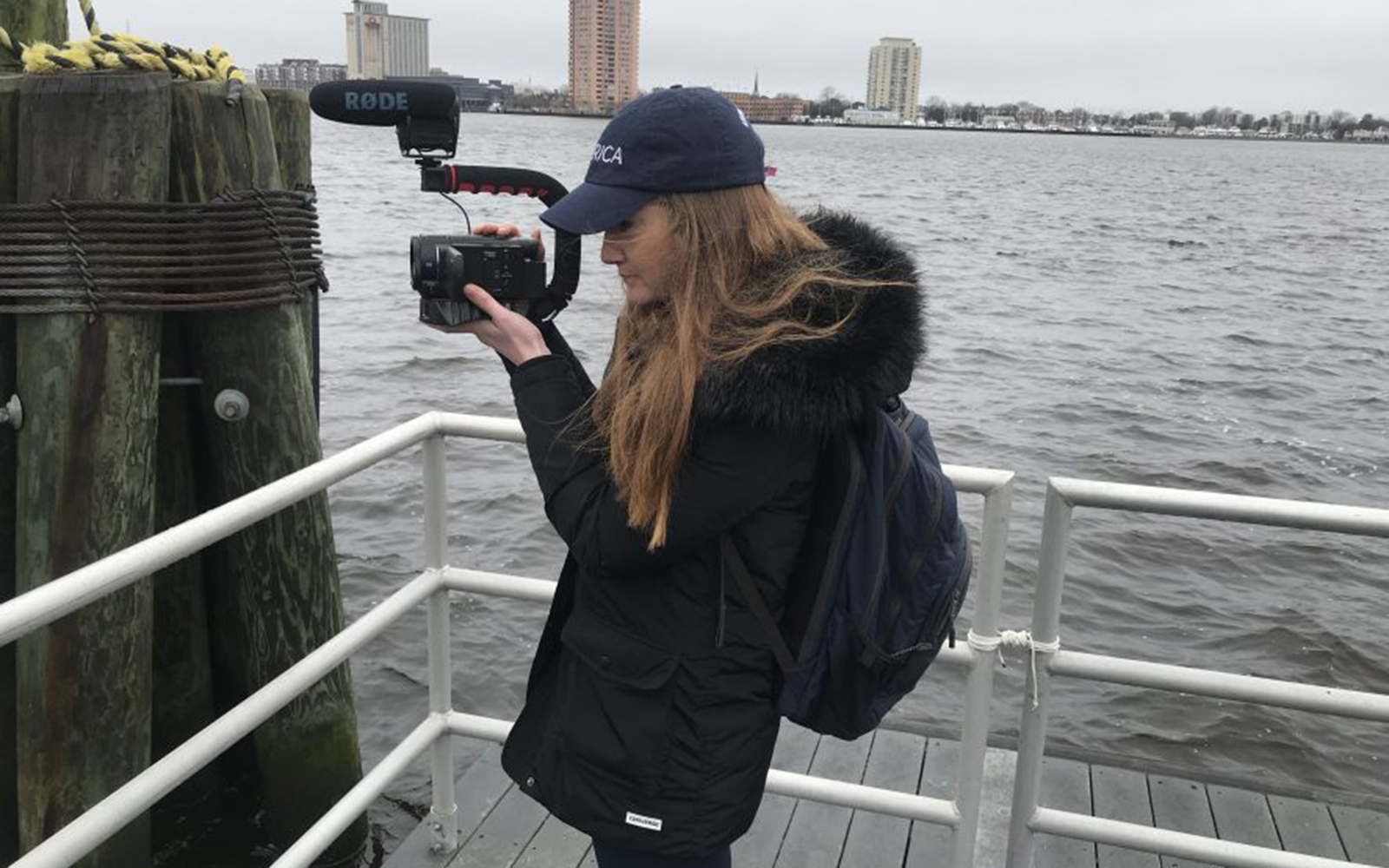 Michelle Wax '12 traveled the US for a new documentary film about the elusive nature of happiness (courtesy of Michelle Wax).