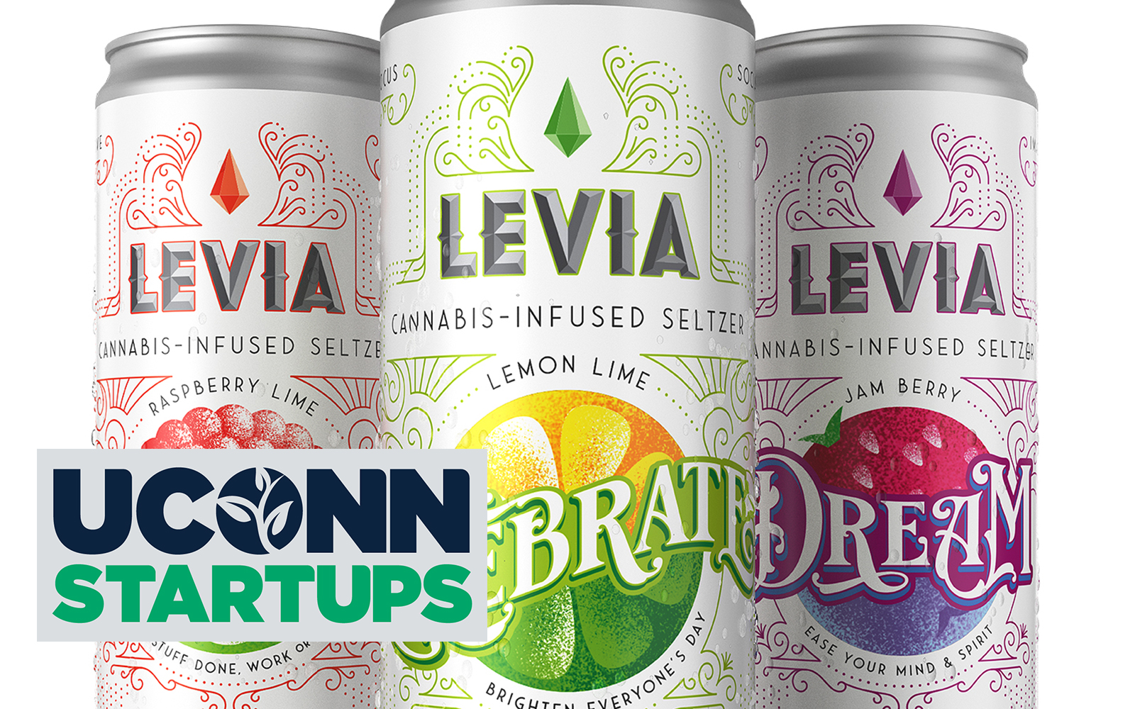 Cans of Levia - Cannabis-infused seltzer