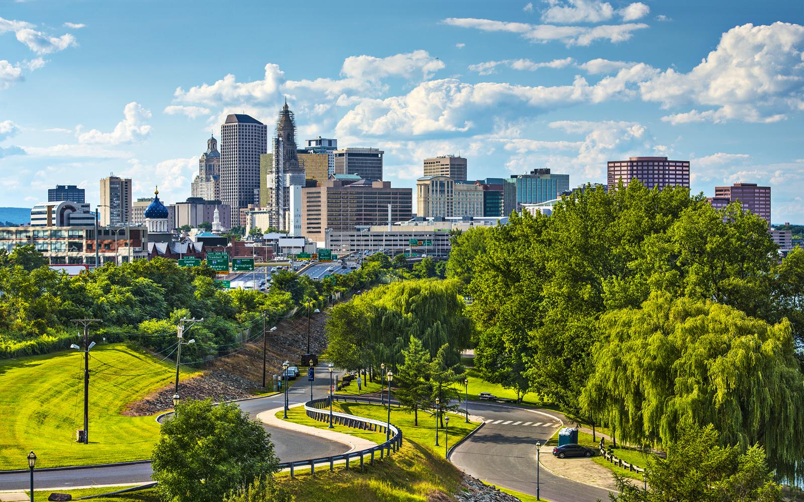 Hartford, Connecticut, USA downtown cityscape