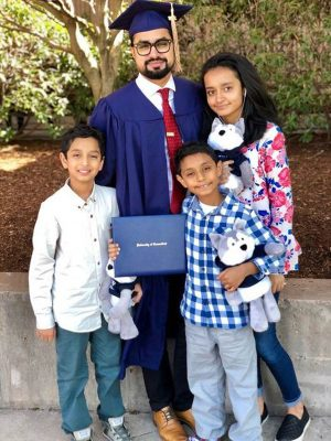 Dr. Shams and his family during his 2018 Graduation. (Contributed Photo)
